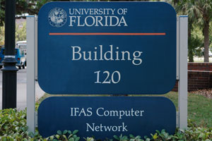 Building 120 - IFAS Computer Network Sign